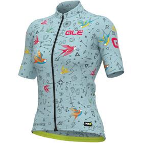 Alé Cycling Maglia Donna MC Kurzarmtrikot Damen türkis